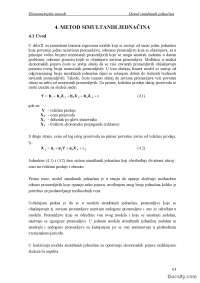 Simultane jednacine-Skripta-Ekonometrijske metode-Fakultet organizacionih nauka