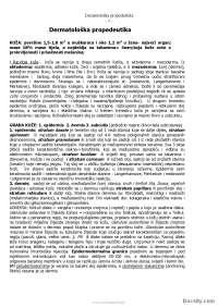Dermatoloska propedevtika-Skripta-Dermakologija-Medicina