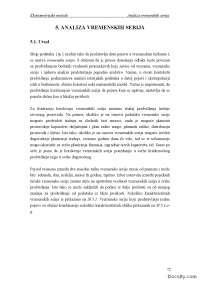Analiza vremenskih serija-Skripta-Ekonometrijske metode-Fakultet organizacionih nauka