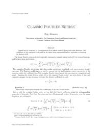 Classic fourier series