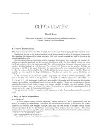 m11186Clt simulation, college study notes - Clt simulation