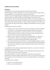 Metafisica del processo - Appunti di Teoria Dell'argomentazione Giuridica
