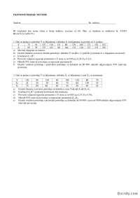 Kolokvijum 1-Ispit-Ekonometrisjke metode-Fakultet organizacionih nauka