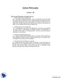 Satkaryavada - Indian Philosophy - Solved Quiz