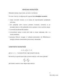 Hemijska ravnoteza-Skripta-Fizicka hemija-Hemija