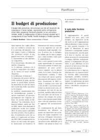 Il budget di produzione - Appunti di Controllo di Gestione