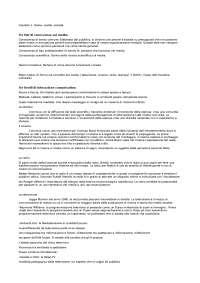 Teorie dei media - Appunti di Sociologia Della Comunicazione Di Massa