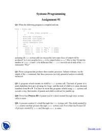 Systems Programming - Systems Programming - Quiz