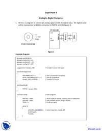 AnalogtoDigitalConverter - Microprocessor Interfacing - Lab Manual