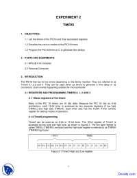 Timers - Microprocessor Interfacing - Lab Manunal