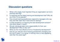 Training and Development Survey - Human Resource Development - Quiz