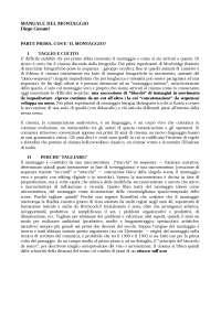 Appunti di Teoria Del Cinema - Rif: Manuale del montaggio, Cassani