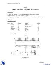Making an LED Blink - Microprocessor Interfacing - Lab Manual