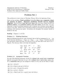 Ordering Functions - Introduction to Algorithms - Quiz