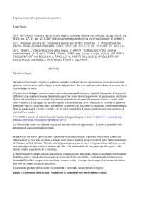 LOGICA e TEORIA dell'argomentazione giuridica - Appunti di lezione