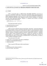Uputstvo za rad sa programskim paketom SDS-Skripta-Simulacija i simulacioni sistemi-Informacioni sistemi i tehnolgija 4