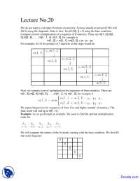 Multiplication of Sequence of Matrices - Design and Analysis - Study Notes