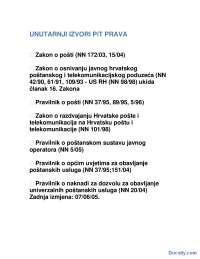 Posta-Beleska-Promet i infrastruktura-Saobracajni fakultet
