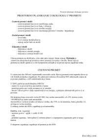 Prostorno planiranje i ekologija u prometu-Beleska-Promet i infrastruktura-Saobracajni fakultet