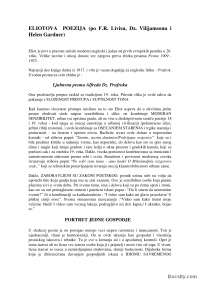 ELIOTOVA POEZIJA-Seminarski rad-Knjizevnost