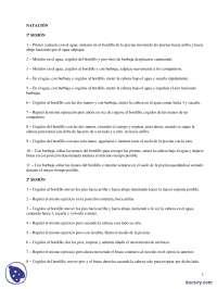 Natación - Prácticas - Entrenamiento Deportivo - Ciencias de la Actividad Física y del Deporte