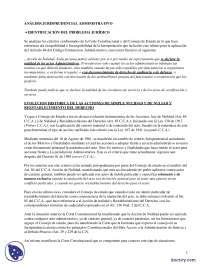 Análisis jurisprudencional administrativo - Prácticas - Derecho Administrativo - Derecho