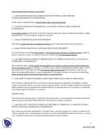 La Paternidad - Prácticas - Derecho Civil - Derecho