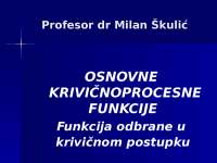 KPP Skulic okrivljeni predavanja