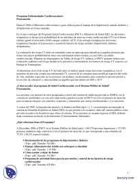 Programa de enfermedades cardiovasculares - Prácticas - Enfermería