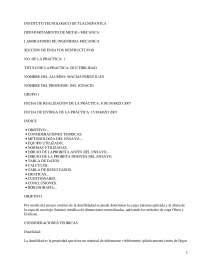 Ductibilidad - Prácticas - Comportamiento Mecánico de los Materiales - Ingeniería de Materiales