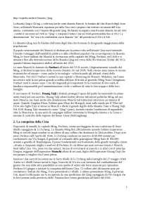 Storia della Cina - Appunti di Storia
