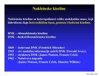 Nukleinske kiseline-Slajdovi-Bioorganska hemija-Farmacija