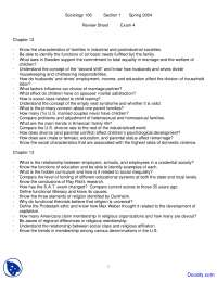 Marriage, Family, Education and Religion - Introduction to Sociology - Handouts