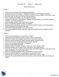 Sociological Perspective, Culture and Socialization - Introduction to Sociology - Handouts