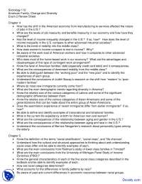 Economy, Class, Race and Family Life - American Family Change and Diversity - Handout