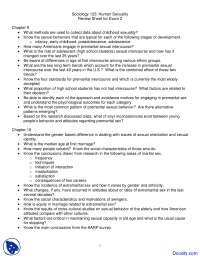 Gender Roles , Adolescent Sexuality and Sexual Orientation - Human Sexuality - Handouts