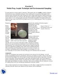 Aseptic Technique, Enviromental Sampling - Food Microbiology - Lab Manuals