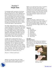 Simple Stain - Food Microbiology - Lab Manuals