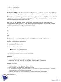 Taquimetría - Prácticas - Ciencias e Ingeniería - Enseñanzas Medias