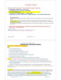 Techniques - Bioorganic Chemistry - Lecture