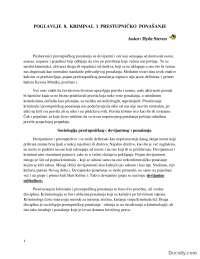 Kriminal i prestupničko ponašanje-Skripta-Sociologija