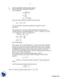 Rate and Equilibrium Constants - Macro Molecules - Lecture Handouts