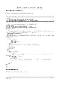 Listati in matlab - Relazione definitiva - Appunti di Modelli di programmazione matematica