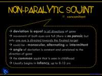 Non Paralytic Squint - Introduction to Ophthalmology - Lecture Slides