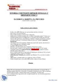 Dandrova_skripta_za_prvi_deo-Skripta-Istorija umetnosti srpskih zemalja u srednjem veku 2-Istprija umetnosti