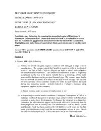 Aircraft Designer - Labour Law - Past Exam