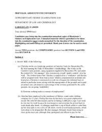 Landholdings - Labour Law - Past Exam