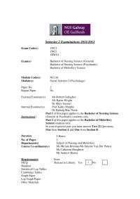 Psychodynamic Theorists - Social Sciences - Past Exam
