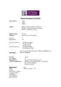 Behavioural Theories - Social Sciences - Past Exam