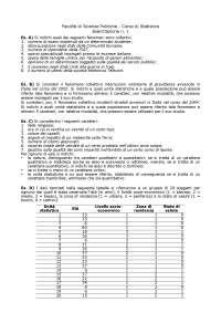 Esercizi di statistica 1 - Analisi Dei Dati Per La Ricerca Sociale